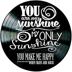 You Are My Sunshine song Lyrics on a Vinyl Record Album Wall Decor