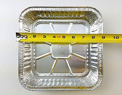 "9"" x 9"" Square Aluminum Foil Cake Pan 100/PK - Disposable Baking Container Tins"