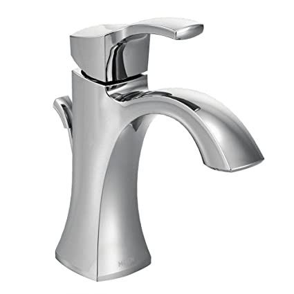 Moen Voss One-Handle High-Arc Bathroom Faucet with Drain Assembly ...