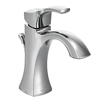 Bathroom Faucets Amazon | Moen 6903 Voss One Handle High Arc Bathroom Faucet Chrome Touch