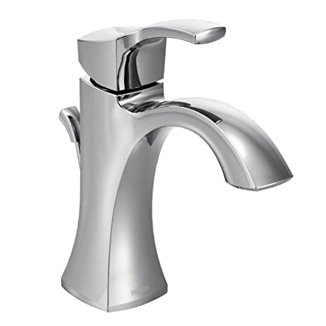 Moen Voss One Handle High Arc Bathroom Faucet With Drain Assembly, Chrome (