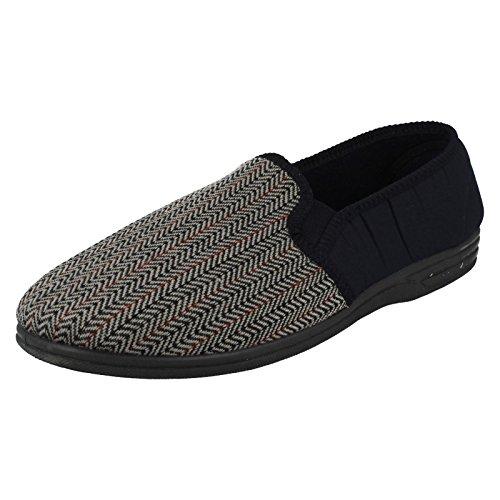 Zedzzz - Zapatillas de estar por casa de fieltro para hombre azul - azul marino