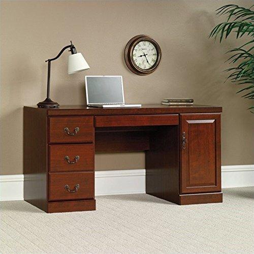 Sauder Heritage Hill 木质电脑办公桌,樱桃木色