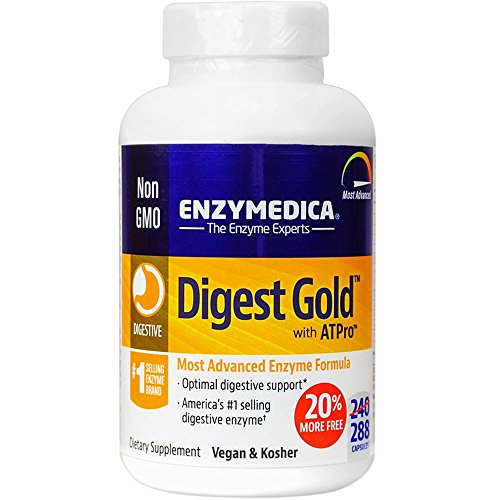 Cheap Enzymedica Digest Gold with ATPro – 288 Count – BONUS BOTTLE – 20% MORE FREE! – Better Nutrient Assimilation and Easier Digestion – Helps Alleviate Sour Stomach, Stomach Ache, and Indigestion