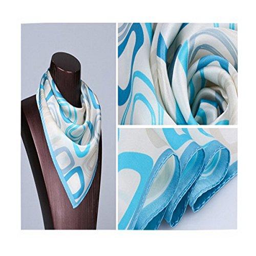 o mujer moda uelo seda Color peque de seda de uelo Pa Ahatech de Pa estampado 3 de uelo 53cm Cuadrado de Pa 53 KIqvypT11