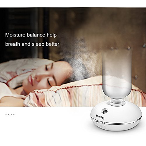 Smart Frog Cool Mist Personal Mini Humidifier, Personal Travel Humidifier, USB or Battery Operated Portable Travel Humidifying Device for use with Water Bottles by Smart Frog (Image #6)
