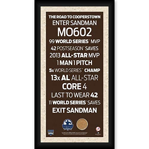 Steiner Sports Mariano Rivera New York Yankees 2019 Hall of Fame Framed Subway Sign with 2013 Game Used Dirt from Yankee Stadium ()