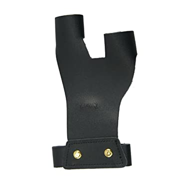 D/&Q Archery Finger Protector Tab Guard Glove Accessory Left Hand for Longbow Protective Traditional Bow Practice