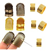 9 Pieces Sewing Thimble,thimbles for Hand Sewing,Metal Copper Sewing Thimble,thimbles for Hand Qu...