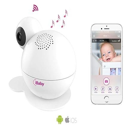 ibabycare M7 Lite Baby Monitor inteligente Vigilabebés mediante Aplicación Schwenkbare Cámara, visión nocturna, sensores
