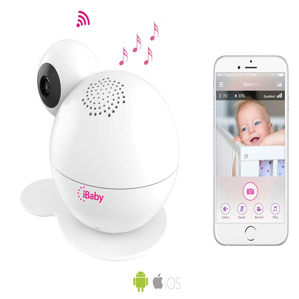 iBaby Wifi Baby Monitor M7 Lite, Smart Baby Care System 1080p Video Camera with Wi-Fi Speakers, Thousands of Lullabies & Bed Stories, Growing Timeline, Motion & Sound Alerts for Android and iOS