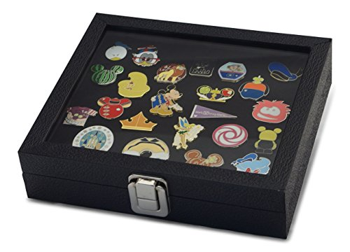 Hobbymaster Pin Collector's Compact Display Case for Disney, Hard Rock, Olympic, Political Campaign & Other Collectible pins, Holds 20-50 pins