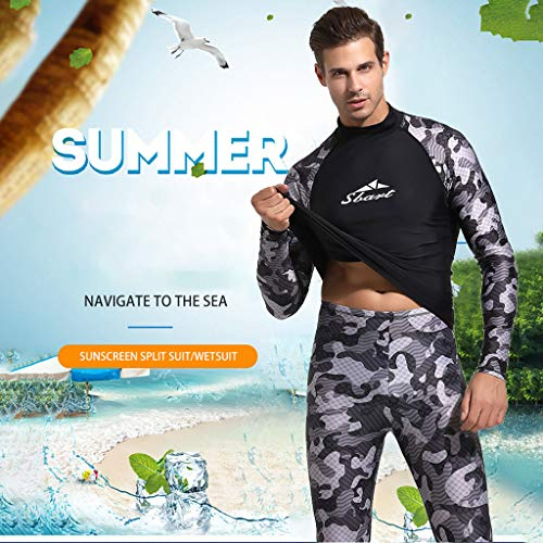 Allywit Full Body Dive Wetsuit Camouflage Sports Skins Rash Guard for Men, UV Protection Long Sleeve for Snorkeling by Allywit (Image #1)