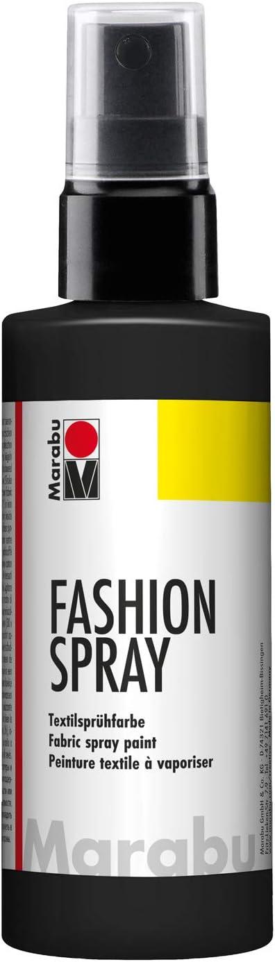 Marabu - Pintura Textil con pulverizador (100 ml), Color Negro