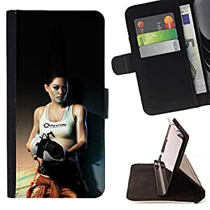 KingStore / Leather Etui en cuir / Sony Xperia Z3 Compact / Aperture Labs - Sexy Girl