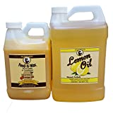 Howard Feed-N-Wax 1/2 Gallon and Howard Lemon Oil Gallon, Clean Kitchen Cabinets, Wood Cleaner, Orange Wood Cleaner, Clean Hardwood Floors, Beeswax Wood Preserver