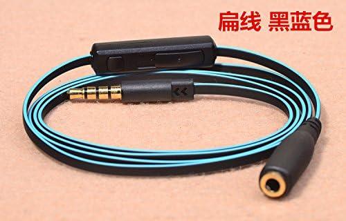 Android vmota 3,5/mm AUX de repuesto para auriculares//micr/ófono Cable de audio con mando a distancia integrado y Universal Control de volumen para Apple y m/ás micr/ófono