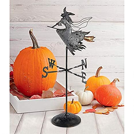 High Quality Design Toscano FU82967 Bewitched Wicked Witch Tabletop Metal Weathervane,  Black