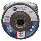"4.5"" x 7/8"" Premium Zirconia Flap Disc Grinding Wheel 60 Grit Type 29 - 10 Pack"