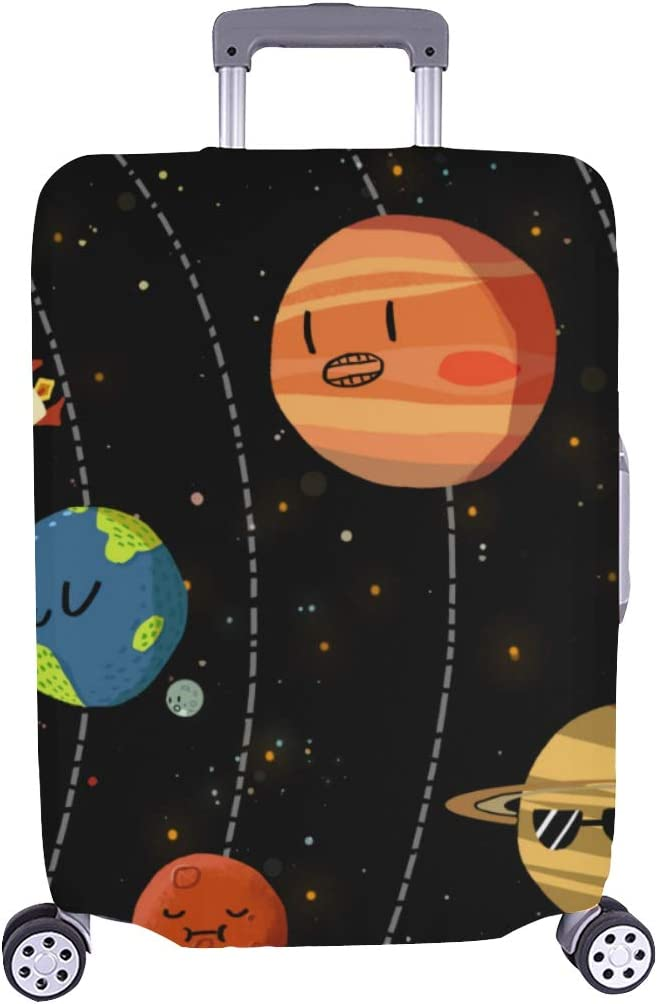 Happy Birthday Spandex Trolley Case Travel Luggage Protector Suitcase Cover 28.5 X 20.5 Inch