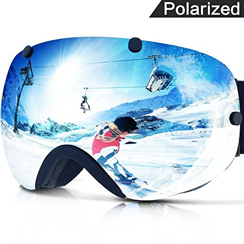 ZIONOR XA Ski Snowboard Snow Goggles for Men Women Anti-fog UV Protection Spherical Dual Lens - Goggles Polarized Ski