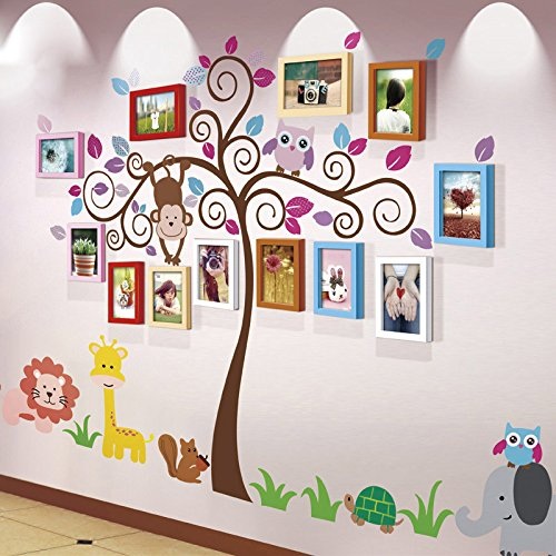 MANO HOME 12 Frame Frame Wall Solid Wood Children 's Room Creative Simple Modern Baby Photo Wall Stickers Frame Combination DIY Wild Living Room Dining Room Bedroom Frame Wall ( Color : #3 )