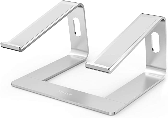 """BESIGN LS03 Aluminum Laptop Stand, Ergonomic Detachable Computer Stand, Riser Holder Notebook Stand Compatible with MacBook Air Pro, Dell, HP, Lenovo More 10-15.6"""" Laptops, Silver"""