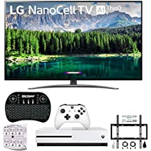 """LG 49SM8600PUA 49"""" 4K HDR Smart LED NanoCell TV w/AI ThinQ (2019 Model) w/Xbox Bundle Includes Microsoft Xbox One S 1TB, Flat Wall Mount Kit Ultimate Bundle for 32-60 inch TVs and More"""