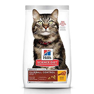 Cat Food Hill's Science Diet Dry Cat Food, Adult 7+ for Senior Cats,... [tag]