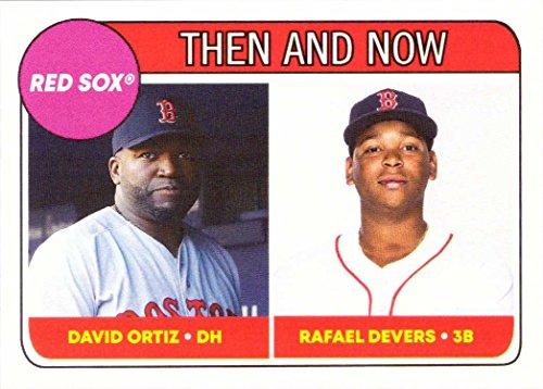 2018 Topps Throwback Thursday TBT #68 David Ortiz/Rafael Devers Baseball Card - 1969 Topps Rookie Design - Only 1,894 made!