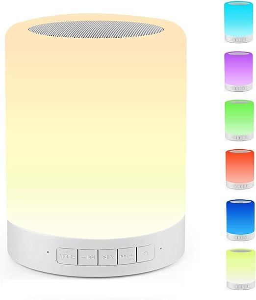 Amazon.com: Lámpara de noche táctil Ourikamo, con altavoz ...