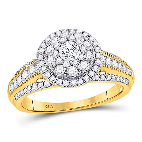 14kt Yellow Gold Womens Round Diamond Solitaire Bridal Wedding Engagement Ring 1.00 Cttw ()