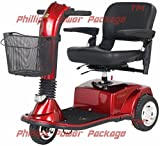 Golden Technologies - Companion - Mid-Sized Scooter - 3-Wheel - Red - PHILLIPS POWER PACKAGE TM - TO $500 VALUE