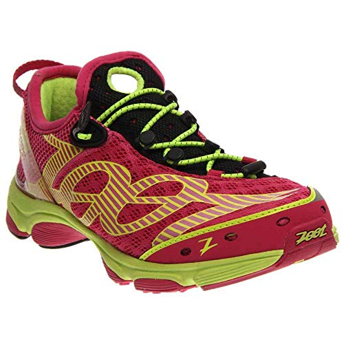Zoot Women's W Ultra Tempo Running Shoe,Safety Yellow/Beet/Black,7.5 M US