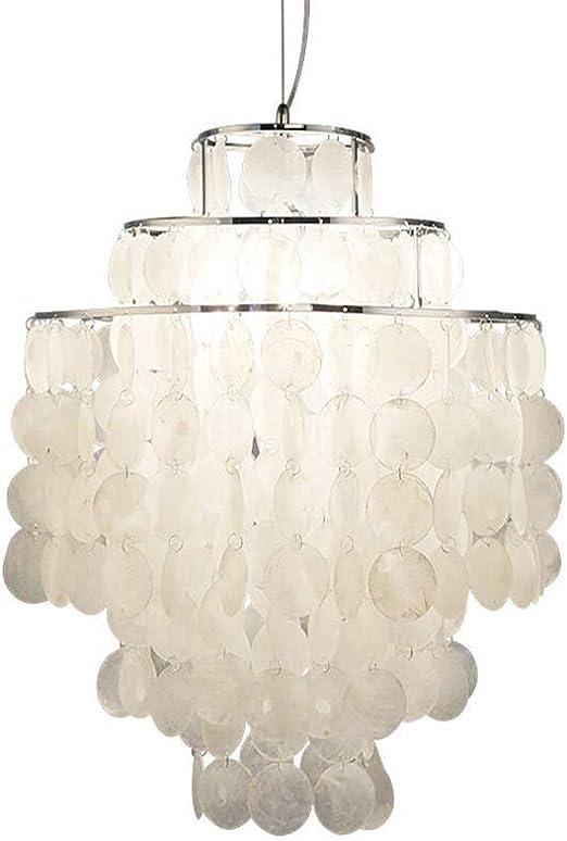 LXSEHN Lámparas colgantes Lámpara de nácar nacarada, Diapositivas nacaradas Diseño Luces de techo Cáscaras de cáscara Luces colgantes para mesa de comedor Pasillo Baño Habitación para niños Comedor Sa: Amazon.es: Hogar