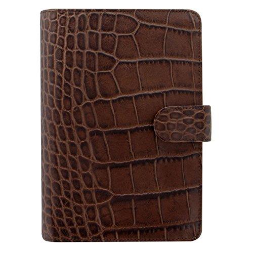 - Filofax Classic Croc Print Leather Organizer Agenda Calendar with DiLoro Jot Pad Refills (Personal, Chestnut 2019, 026016)