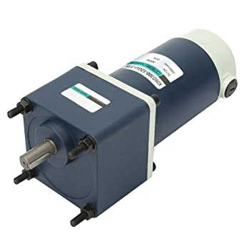 Yadianna 24V 300W DC Geared Motor,15mm Shaft High Torsion Permanent Magnet DC Geared Metal Gear Reducer Motor 200rpm