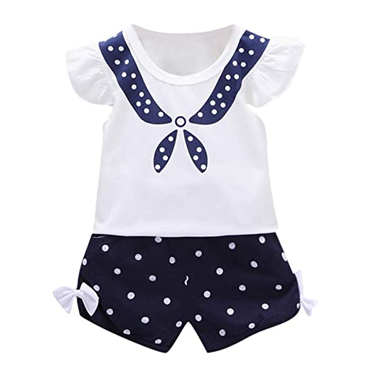 a659d7c09 Image Unavailable. Image not available for. Color: Outique Toddler Outfits  Set Baby Kid Girl Fly Sleeve ...