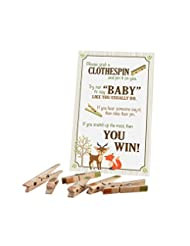 Lillian Rose Woodland Clothespin Baby Shower Game, Neutral, 1...