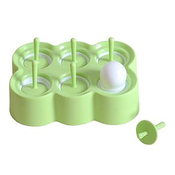 Qbsm Grün Stieleisformer 6 Stück Eis Am Stiel Formen Aus Silikon Bpa