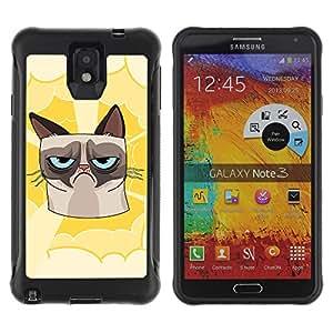 Hybrid Anti-Shock Defend Case for Samsung Galaxy Note 3 / Grumpy Cat
