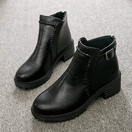 Womens Over The Knee Boots Miuye yuren Ladies Retro Increased Wedges Shoes Cowboy High Combat Slouchy Boots