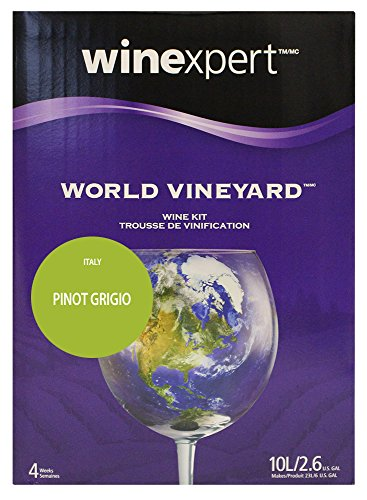 World Vineyard Italian Pinot Grigio 10 Liter Wine Making Kit