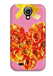 Brand New S4 Defender Case For Galaxy (fresh Floral Heart )
