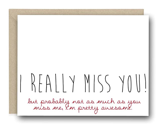 I miss you greeting card i really miss you amazon handmade i miss you greeting card i really miss you m4hsunfo
