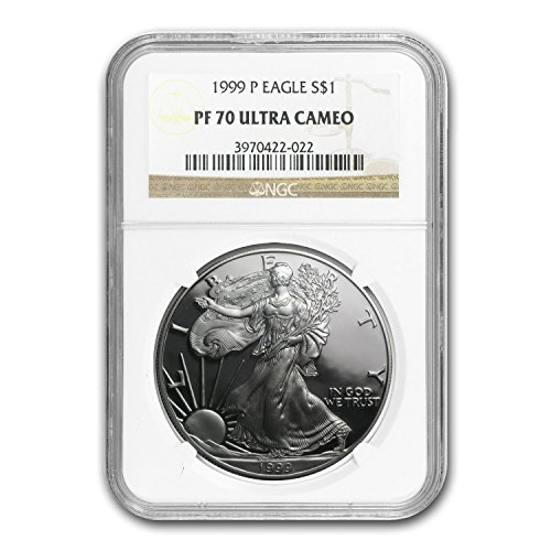 1999 P Proof Silver American Eagle PF-70 NGC Silver PR-70 NGC