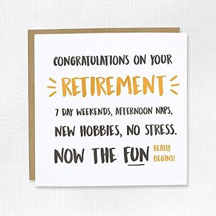 Felicidades por tu retiro tarjeta - jubilado, troquelados ...