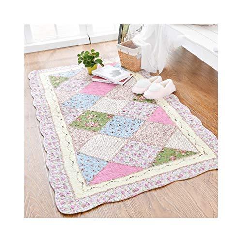 LQQFFhousehold Products Carpet Filled Low-Pile Household Non-Slip Carpet Bedroom Rectangular Bedside Carpet Children Crawling mat (Color : C, Size : 110x210cm)