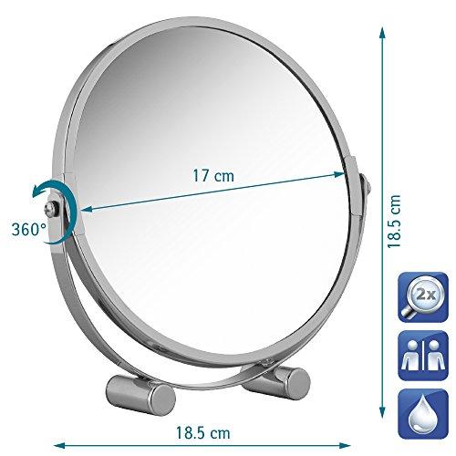 Tatkraft Eos Kosmetikspiegel Doppelseitiger Ø 17cm Die Spiegelfläche ist um 360 Grad drehbar