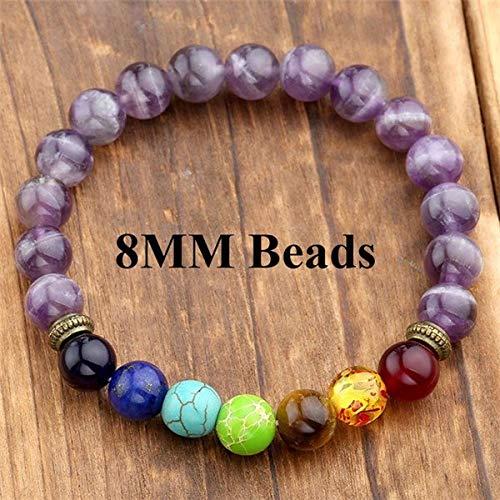 Amazon.com: Ayliss 7 Chakra Healing Balance Bracelets Femme ...
